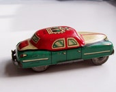 Antique 1940s KING Tin Litho Friction Car Made In Japan
