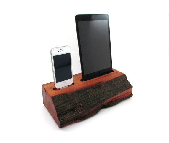 ipad mini and iphone 4s barn wood docking station dual dock. Black Bedroom Furniture Sets. Home Design Ideas