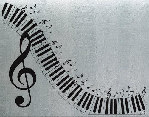 Piano Keyboard Wall Decal Vinyl Decor Art Sticker Removable