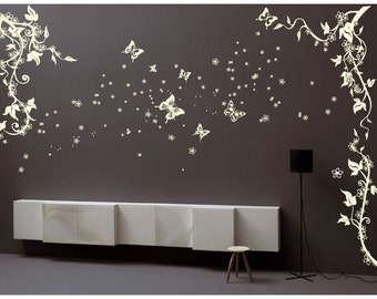 Butterfly Flower Branch Tree Wall Art / Wall Stickers / Wall Decals from AmazingSticker