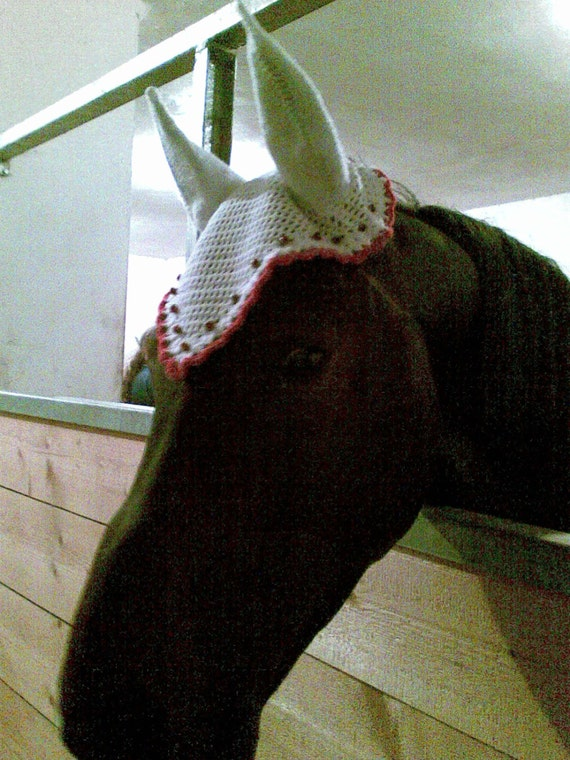 Free Crochet Horse Fly Mask Pattern : HORSE bonnet SET of 2 patterns .PDF for Fly Bonnet/ Horse Fly