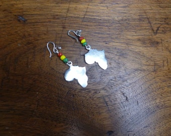 African Continent - Sterling Silver Earrings - 925 Jewelry