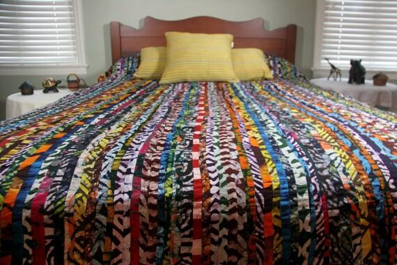 Queen Duvet Cover Batik Bedspread African Detailed