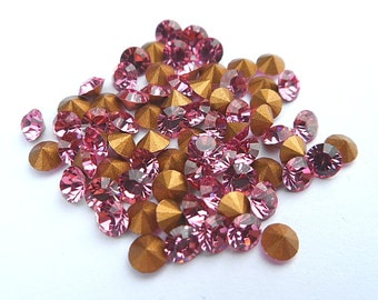 72 Rose 29pp Swarovski Round Rhinestones-Loose Rhinestones-Bulk Rhinestones-Wholesale Rhinestones-Loose Crystals