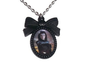 Evil Willow Rosenberg Necklace, Black Cameo, WItch, Buffy the Vampire Slayer Necklace,