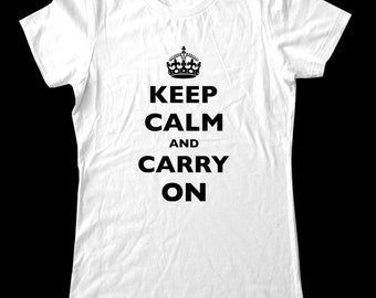 CUSTOM KEEP CALM T-Shirt - Printed on Soft Cotton T-Shirts for Women and Men/Unisex - All Sales Final for Custom Items