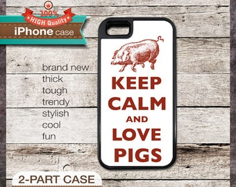 Keep Calm And Love Pigs - iPhone 6, 6+, 5 5S, 5C, 4 4S, Samsung Galaxy S3, S4