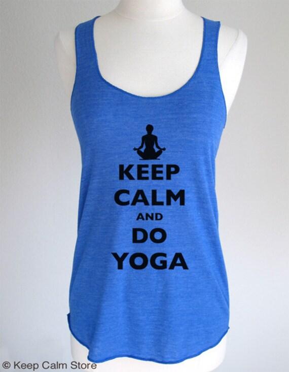 Keep Calm and Do Yoga Soft Tri-Blend Racerback Tank