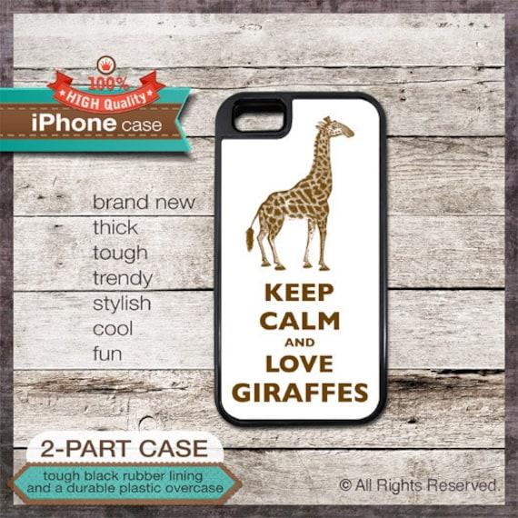 Keep Calm And Love Giraffes - iPhone 6, 6+, 5 5S, 5C, 4 4S, Samsung Galaxy S3, S4