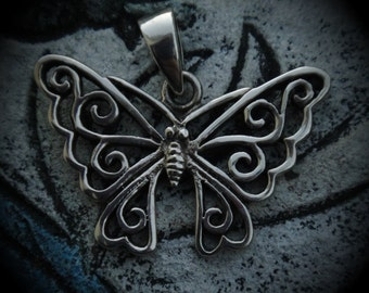 Genuine Sterling Silver Butterfly Pendant
