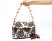 Golden handle Lace Purse, Lace handbag, Feminine, Handmade, Brown, Spring, Summer Bag, Unique, Wedding, Pouch