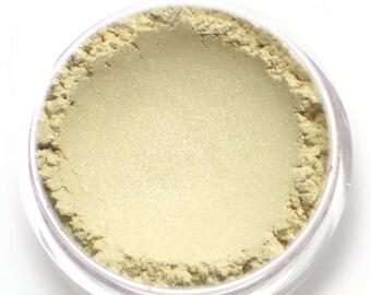 "Frosty Cream Eyeshadow - ""Buttercream"" - Ivory White Vegan Mineral Eyeshadow Net Wt 2g Mineral Makeup Eye Color Pigment"