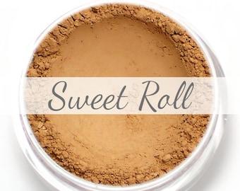 "Eyeshadow Sample - ""Sweet Roll"" - soft matte peachy brown (Vegan) Mineral Makeup Eye Color Pigment"