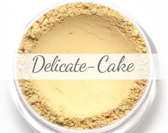 Vegan Mineral Foundation Sample - Delicate Formula CAKE - light/pale shade with a yellow undertone