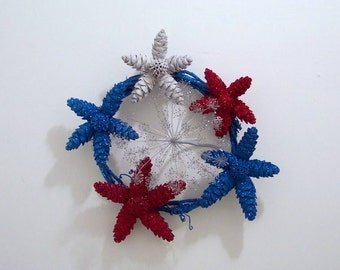 Fourth of July Fireworks Wreath