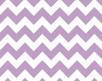 In Stock now - Medium Chevron Cotton - Lavender  by Riley Blake- 1 yard