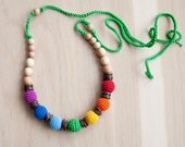 SALE Coconut donuts rainbow nursing necklace  -  Sling Accessory