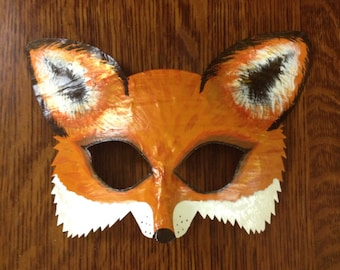 fox mask, fox costume, Mr. and Mrs. Fox, arctic fox mask