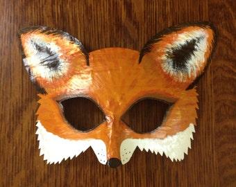 fox mask, fox costume, Mr. and Mrs. Fox, arctic fox mask