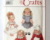 Vintage Simplicity Crafts Pattern Doll Clothes, 9478