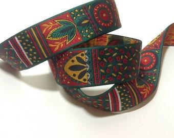 2 Yards of Tribal/ Native American/ Aztec Jacquard Ribbon Trim