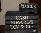 Personalized Primitive Storage or Toy Crate