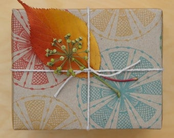 Fun Carnival Wrapping Scrapbooking or Origami Paper 'Circle Fans' Rainbow