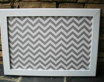"""18""""x22"""" White Frame with Fabric Cork Board"""