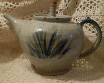Lovely Heavy Handmade Stoneware Teapot