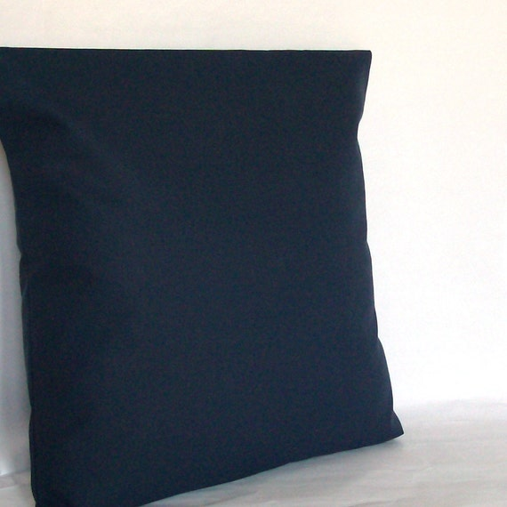Navy Blue Throw Pillow Covers : Navy Blue Decorative Throw Pillow Cover 18x18 or 20x20 inch