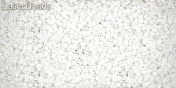 Seed beads TOHO 10g size 15/0 Matte-Color Opaque White Nr. 15-761 Frosted