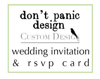 Custom Printable Wedding Invitation and Matching RSVP Design - Custom Colors