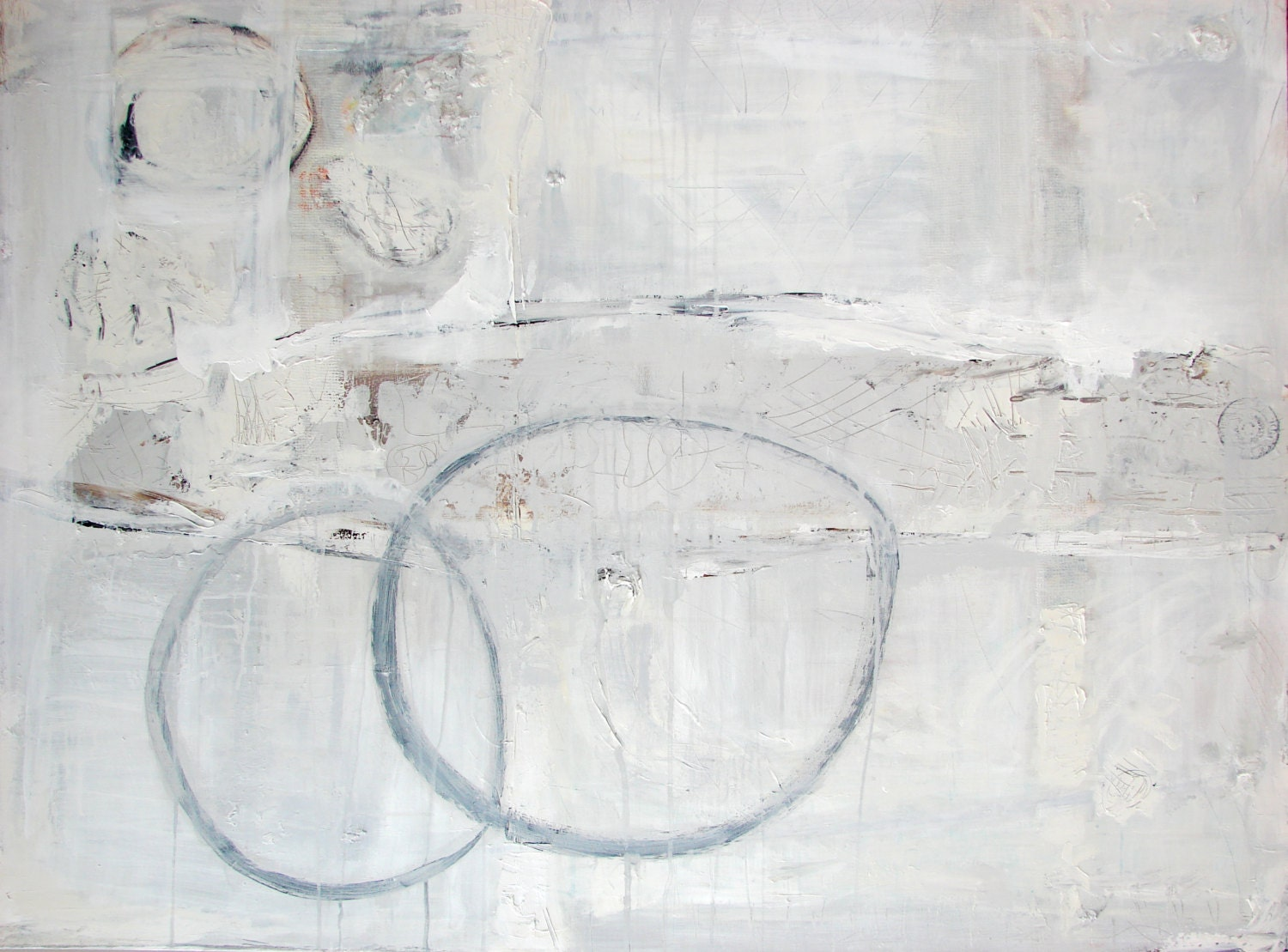 Painting original abstract acrylic neutral art gray painting for Neutral light grey paint