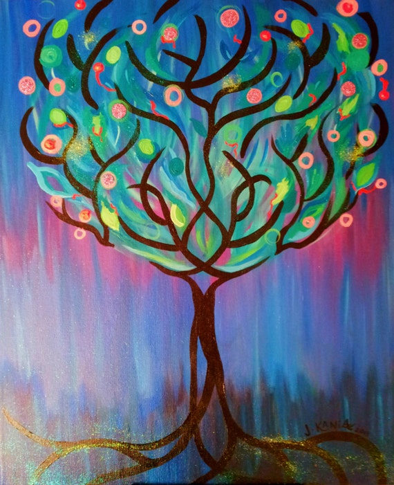 Items Similar To Original Whimsical Painting Tree Of