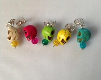 Skull crochet stitch markers