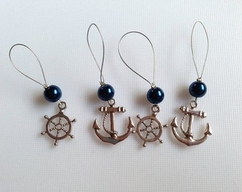 Nautical knitting stitch markers