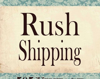 RUSH SHIPPING- Priority Processing and Delivery within the U.S.