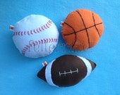 Handmade Sports Tooth Fairy Pillow Football Baseball Basketball