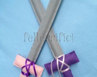 Set of 2 Handmade Felt Play Swords