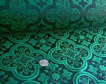 Emerald Green and Black Trinity Brocade Renaissance Bodice !!!! Finally found this fabric