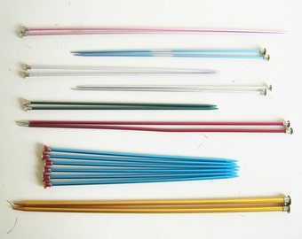 Vintage Straight Aluminum Knitting Needles