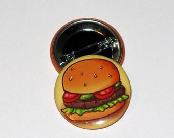Hamburger 1.5 inch Button