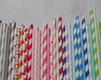 Paper Straws 400 Pick Your Color/s - Quantity Discount