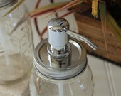 Soap Dispenser Pump-Pump and Lid Only-No Jar-Choose your style and color