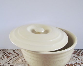 Yellow Bowl with Cover Casserole Fiesta Style