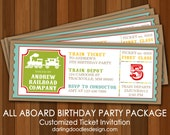All Aboard Printable Party Package