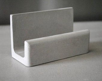 Concrete Business Card Holder / Business Card Stand / Business Card Display
