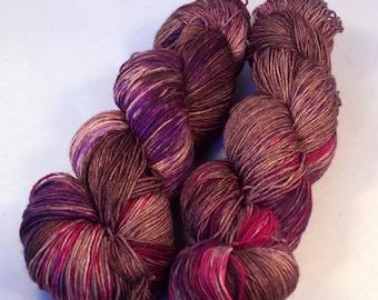Hale on Lolo 75/25 SW Merino Nylon Hand dyed fingering weight sock yarn