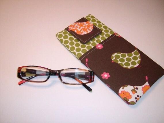 retro fabric eyeglass