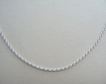 "SALE Small oval belcher rolo Sterling silver chain 16"", 17"", 18"", 19"", 20"", 22"", 23"", 24"""